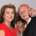 ... mit Schauspielerkollegen Michael Tschernow